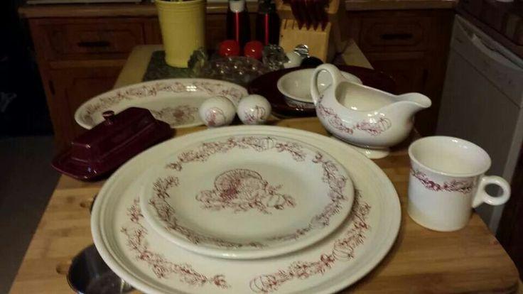 Fiestaware Thanksgiving Display