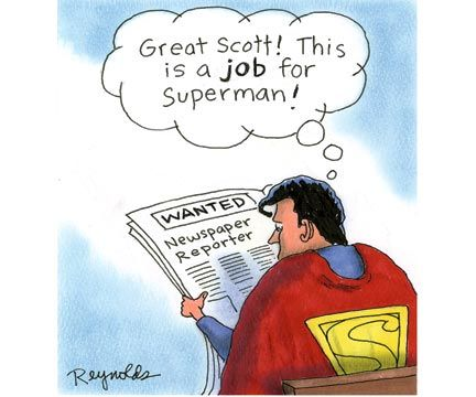 Superman Looking for a Second Job | Funny Work Cartoons to Get Through the Week | Reader's Digest