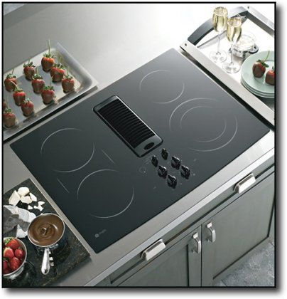 ge appliance builtin electric cooktop downdraft exhaust - Gas Cooktop With Downdraft