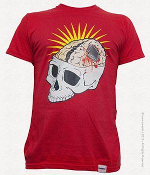 Unisex T-shirt Chip Skull. www.sweetb.it ® sweetB 2013 - All Rights Reserved.  #sweetb  #t-shirt #chip t-shirt #brain #t-shirt #skull t-shirt #funny t-shirt #magliette originali #maglietta teschio #maglietta cervello #vendita magliette online #magliette #sweetb