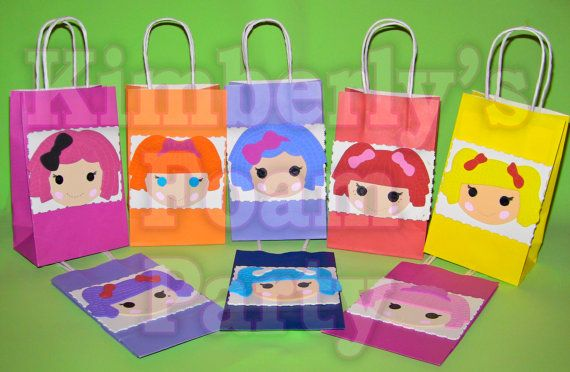 8 Lalaloopsy party bags by kimberlysfoamparty on Etsy, $22.80