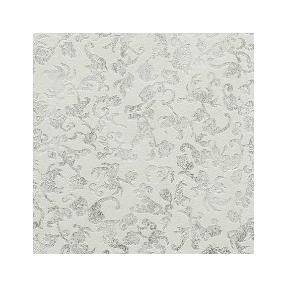 Papel pintado brocante damasco blanco fondos y texturas for Papel pintado damasco