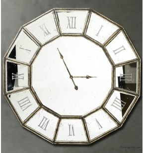 roman-numerals-large-size-decorative-mirror-wall-clock ...