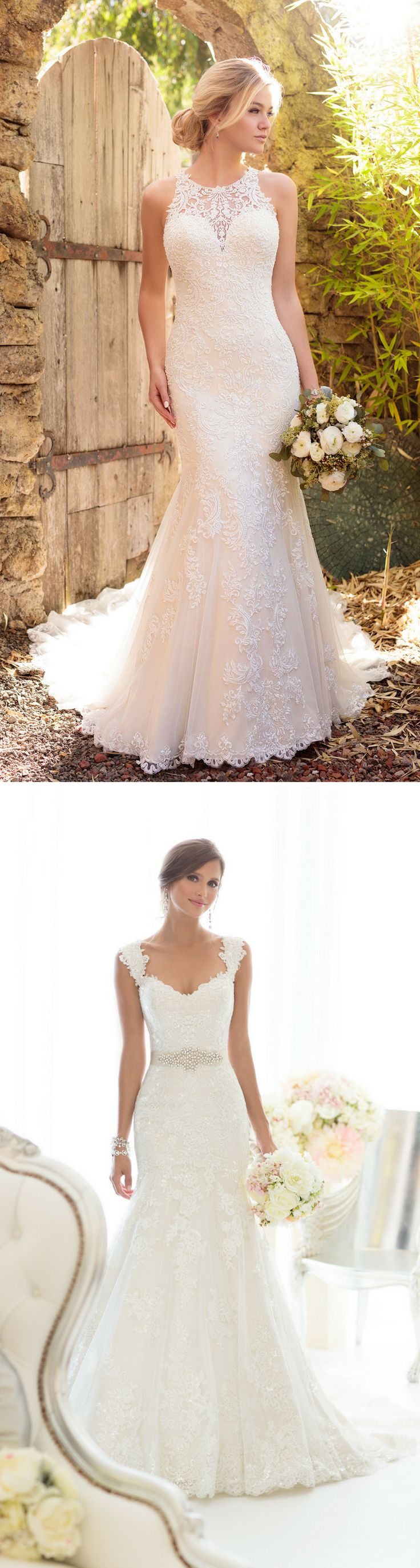 Year after year, lace wedding dresses remain a staple and today's gowns are no exception. Lace is a stunning fabric that feels classic yet modern in design.