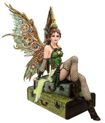 Steampunk Figurines... Not your typical Fairy but I love the intricacy of their mechanic elements. Here you go to Fans of Julie Kagawa's Iron Fae Series...