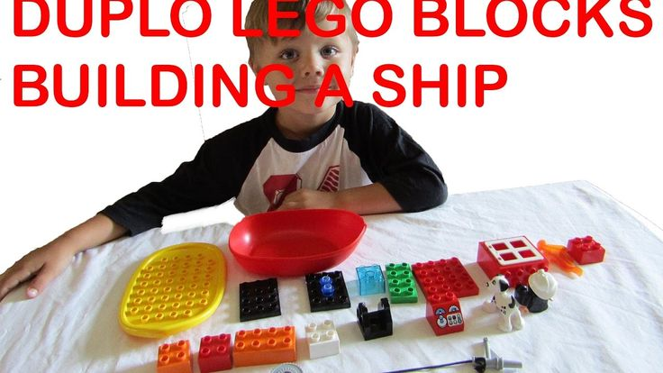 DUPLO LEGO BLOCKS - BUILDING A SHIP WITH CAPTAIN AND HIS DOG!!!