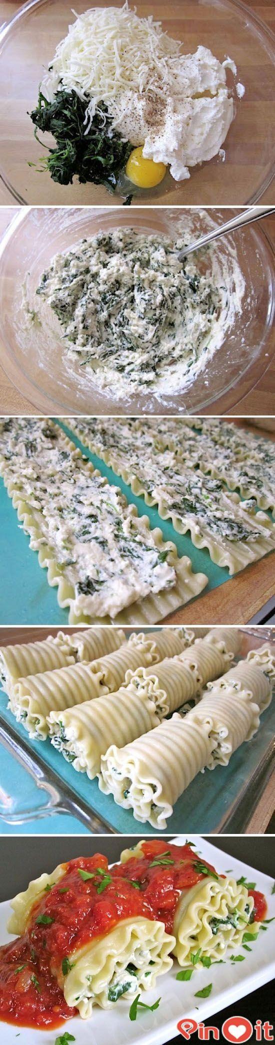 FASHİON TV 2015: Spinach lasagna roll ups
