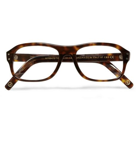 Kingsman Cutler and Gross Tortoiseshell Acetate Square-Frame Optical Glasses