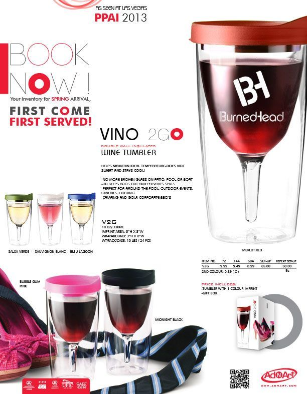 Vino2Go!! Take your wine with you outdoors this summer!