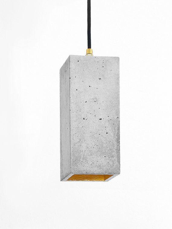 Concrete hanging lamp B2