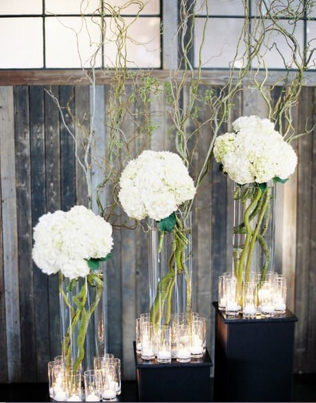 Curly Willow And Hydrangea Event Floral Arrangements Wedding Designs Wedding Mod Wedding