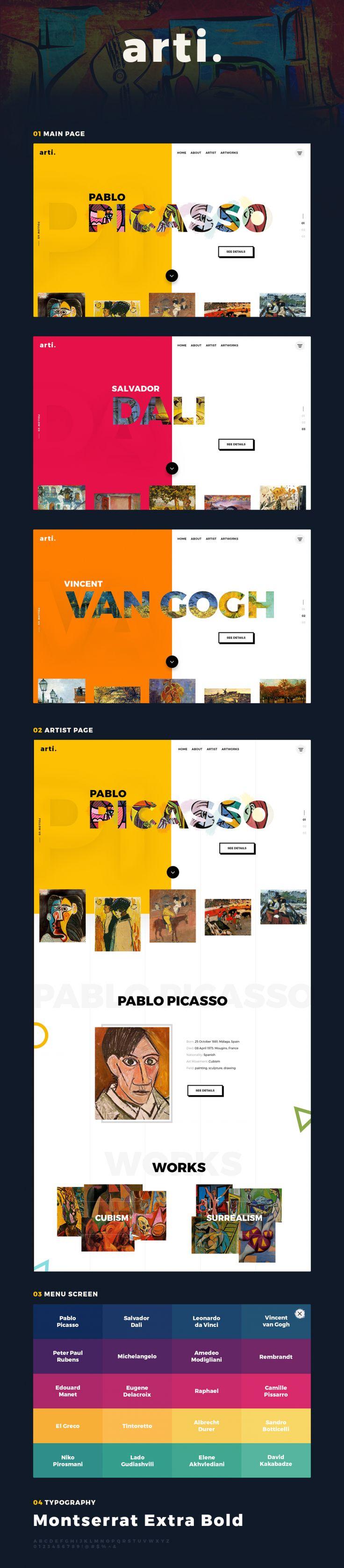 Arti Web Design Inspiration