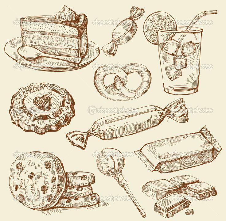vintage dessert illustration - Google Search ...