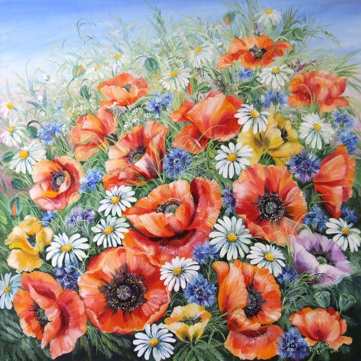 Картины - Цветы - Маки (Холст, масло)