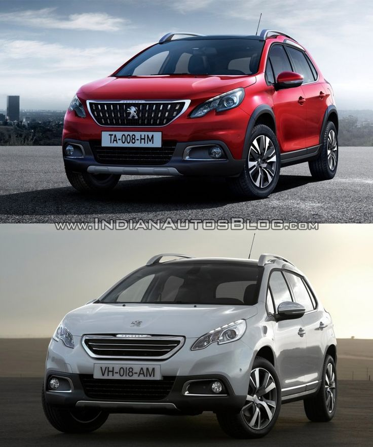 2016 #Peugeot #2008 (facelift) vs older model – Old vs. New -
