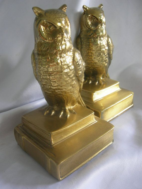 Brass Owl Bookends PM Craftsman Eaton Park by RetrofitGallery