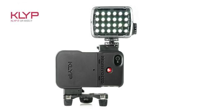 Manfrotto Klyp by Manfrotto Imagine More. KLYP - the first pro-quality LED light unit for iPhones 4/4S from Manfrotto