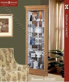 Howard Miller Small Corner Display Oak Curio Cabinet 680347 Hammond This  Classic Corner Cabinet Features