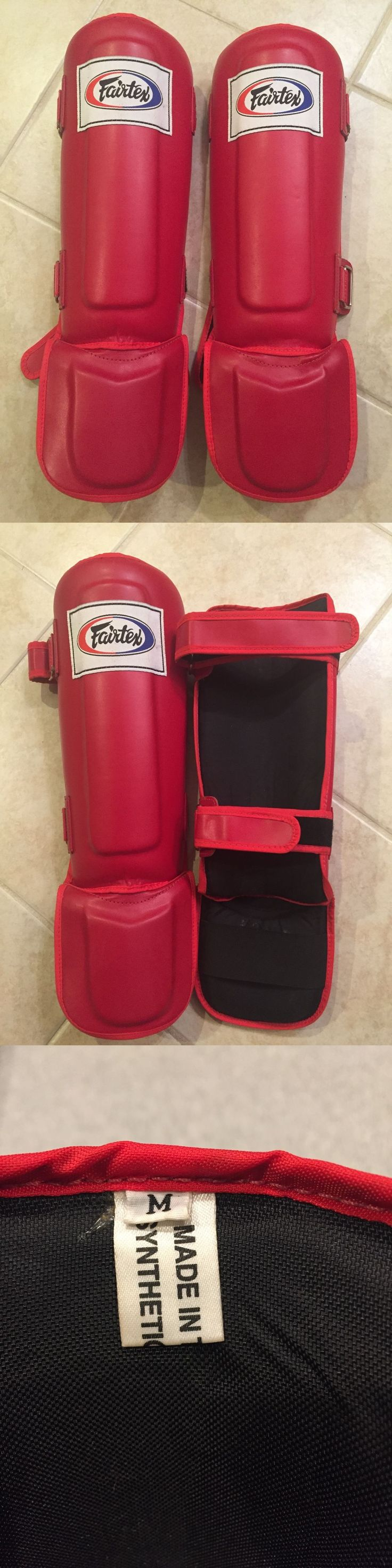 Shin Guards 179782: Barely Used Fairtex Shin Pads Muay Thai Boxing Red Shin Guards - Size Medium -> BUY IT NOW ONLY: $40 on eBay!