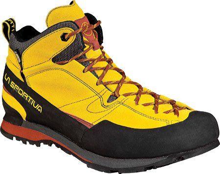La Sportiva Boulder X Mid GTX Boot - Men's Nugget / Rust 47.5 *** Click image to review more details.