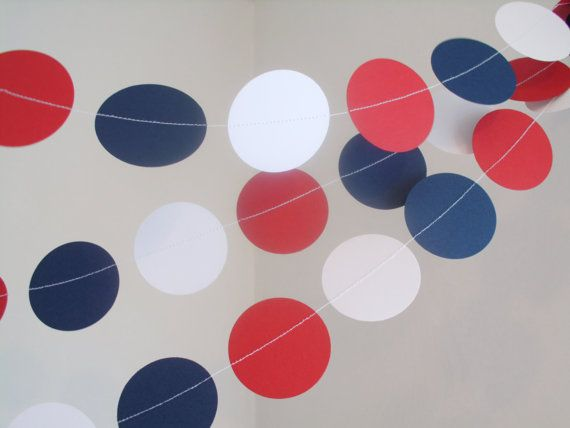 Texans paper garland 2circle baby shower by ScissorBelleGarland