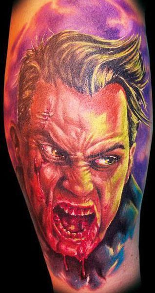 Realism Horror Tattoo by Randy Engelhard - http://worldtattoosgallery.com/realism-horror-tattoo-by-randy-engelhard/