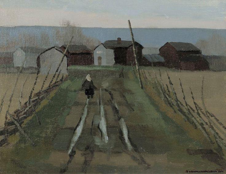 Eero Nelimarkka (1891-1977) Talontie / House road 1919 - Finland