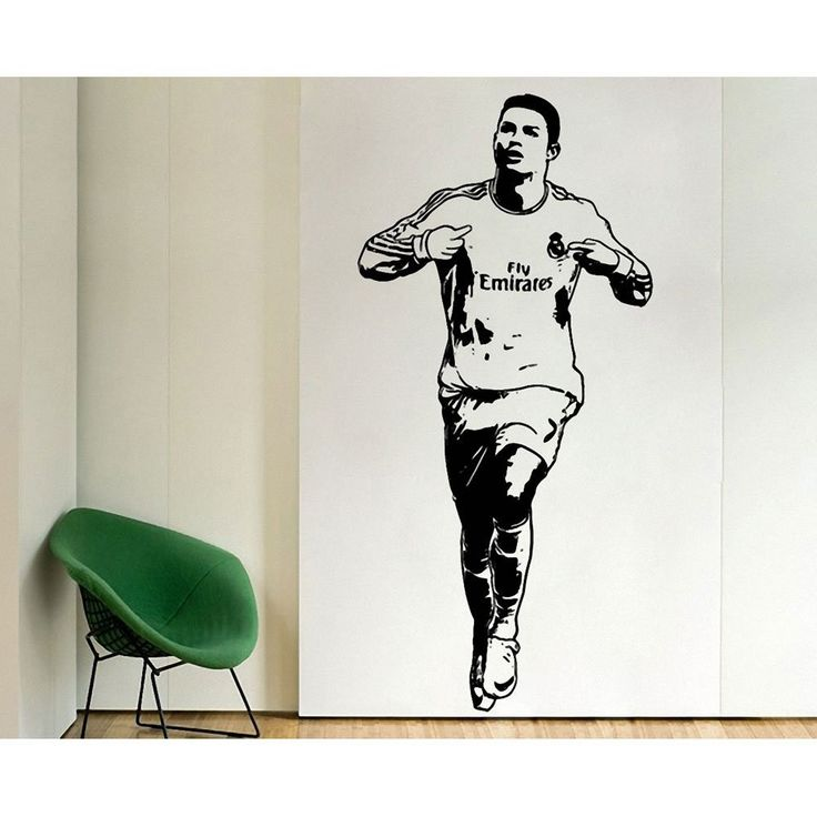 ==> [Free Shipping] Buy Best New arrival Free Shipping Home Decor Sports footballer wall stickers PVC Vinyl Art Mural Football Cristiano Ronaldo Online with LOWEST Price   32803634044