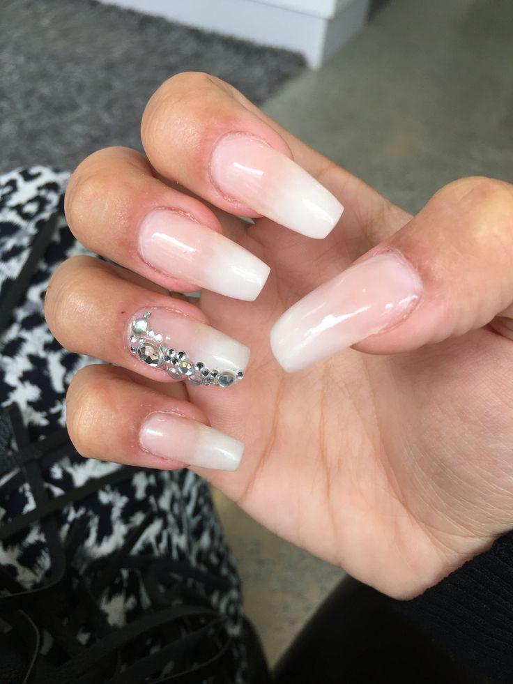Ombré French Acrylic Stiletto Nails
