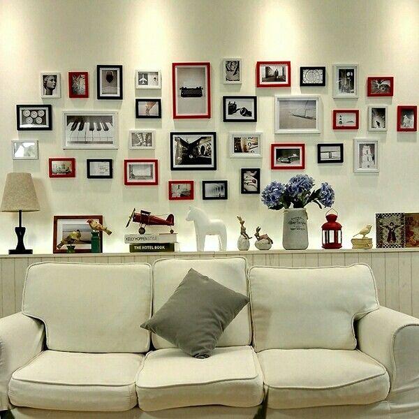 31 pz 17 colori diy moderna vintage cornici da parete ampio soggiorno semplice collage di foto combinazione creativa di stile di vendita  http://s.aliexpress.com/JZzEfaAZ  (from AliExpress Android)