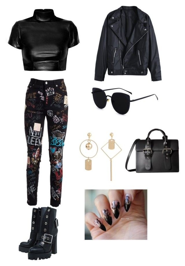 """""""Untitled #147"""" by denisapurple ❤ liked on Polyvore featuring Alexander McQueen, Dolce&Gabbana and Vivienne Westwood"""