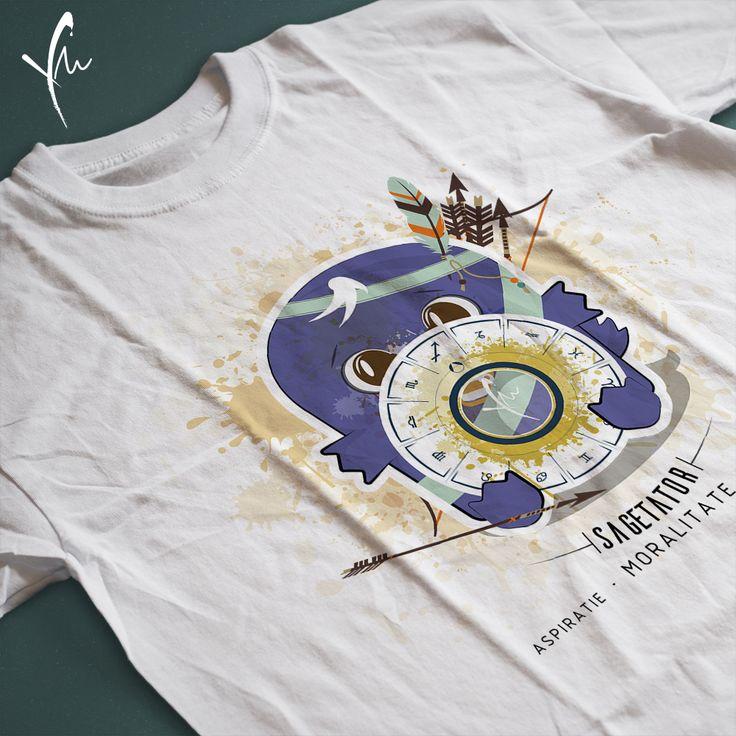 Sagetatorul este un idealist. Sa ii impartasim aspiratiile! Tricou pentru baietei Il gasiti la http://ya-ma.ro/produs/sagetator-tricou/
