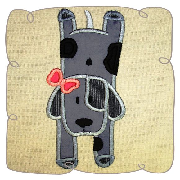 Beethoven Dog Applique Machine Embroidery Design Pattern Instant download