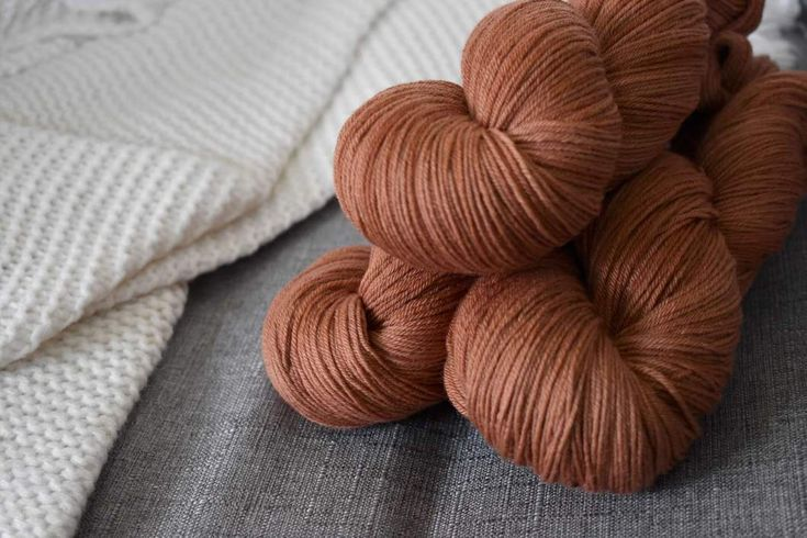 Hand dyed yarn available at knitcraftandknittery.com!