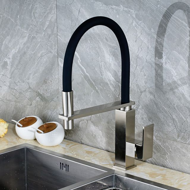 Deck Mounted Quality Single Handle Directly From China Mixer Tap Suppliers Uythner Modern Brushed Nickle Kitchen Faucet Swivel