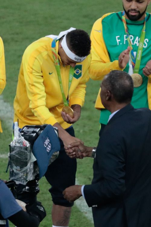 Neymar and his GOLD Olympic medal