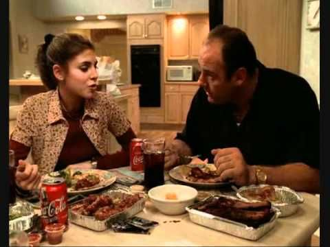 The Sopranos - Italian Dinner Discussion scene..... the best of james gandolfini from the sopranos -- has 16 scenes from the show. ohhhh this show. via huffington post http://www.huffingtonpost.com/maureen-ryan/james-gandolfini-sopranos_b_3469215.html