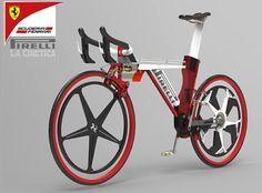 Ferrari bicycle with Pirelli tyres.