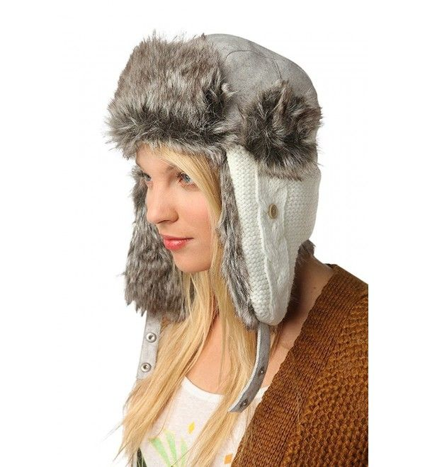 Wool Faux Fur Comfortable Warm Cute Winter Trapper Aviator Hat Knitted  White/Grey CS1860UMTMI | Urban outfitters women, Winter hats, Winter knits