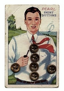 (::)  vintage Button card