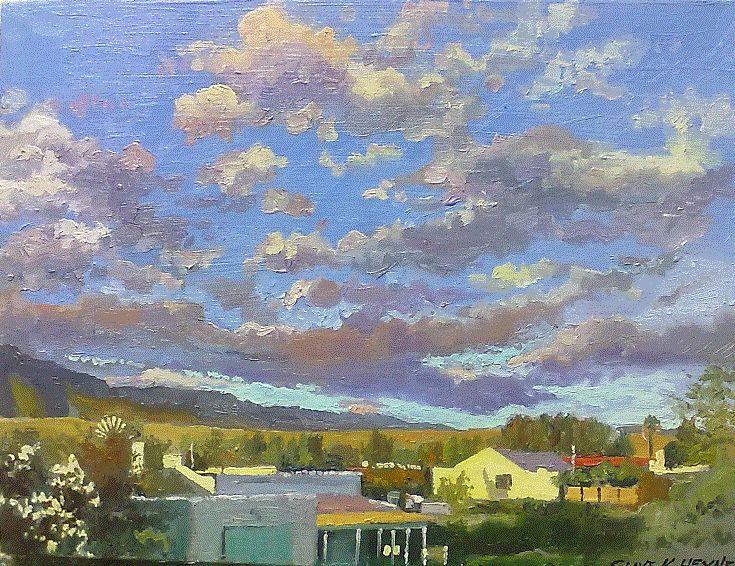 300 x 400 mm Landscape of Prince Albert - oils & brush on board
