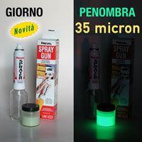 NEXTGLOW Kit 1 - Vernice Fosforescente 35 micron e Spray Gun