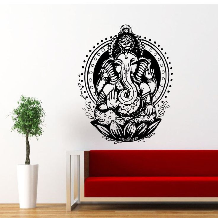 Ganesh Ganesha Elephant Lord of Success Hindu Hand God Buddha India Housewares Wall Vinyl Decal Design Interior Bedroom Decor Sticker SV4151 by SuperVinylDecal on Etsy https://www.etsy.com/listing/163200040/ganesh-ganesha-elephant-lord-of-success