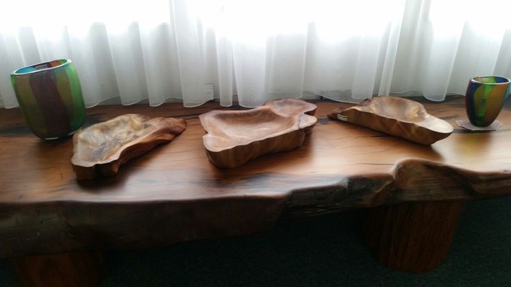 Free form Ancient Kauri bowls by Sharon Hale