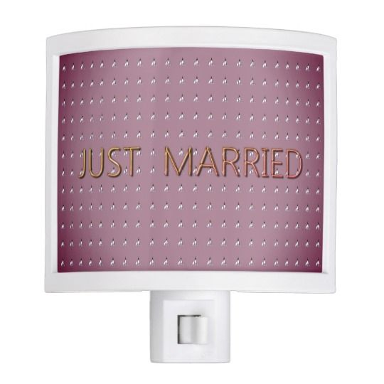 """Just-Married""-Elegant-Mauve-Floral-Honeymoon_ Night Light"