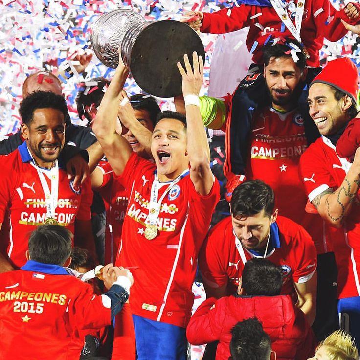 "Football • Soccer • Futbol en Instagram: ""#Chile Campenones #CopaAmerica !!"""