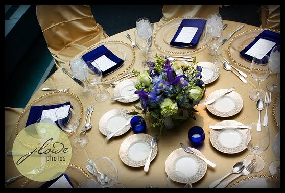 navy place settings.