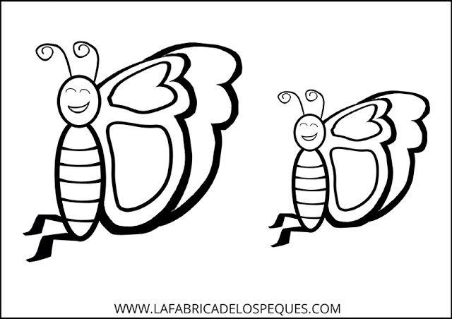 La fábrica de los peques: Moldes de mariposas para manualidades.