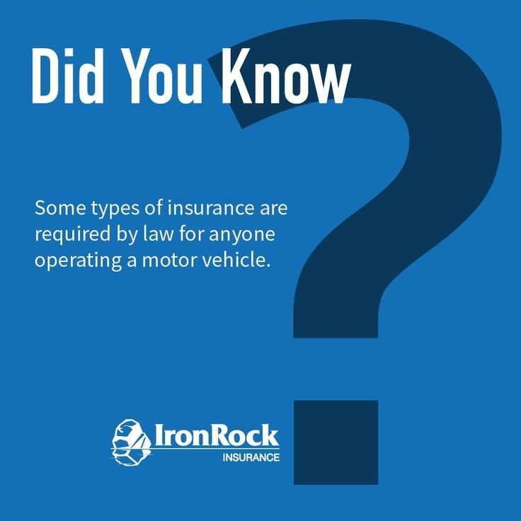 Did you know that some types of insurance are required by
