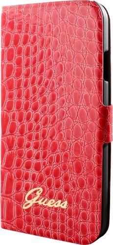 Le rouge avec un effet croco que demander de plus à cette magnifique housse Samsung Guess folio!